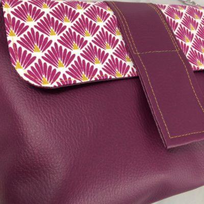 Pochette Josephine prune chaine detail