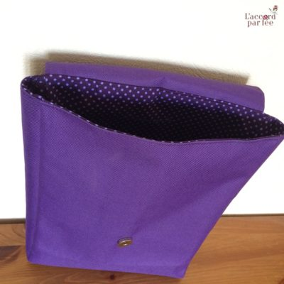 sac maternelle violet elephants interieur