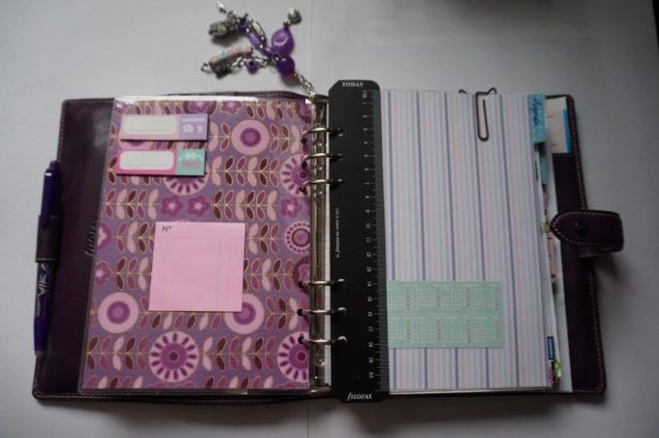 Filofax malden purple A5 ouvert 1