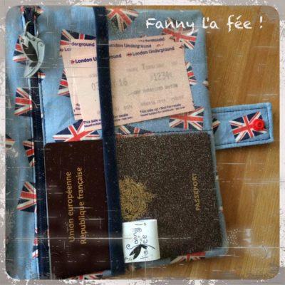 Pochette de voyage londres passeports