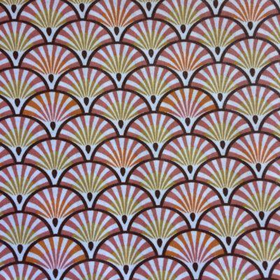 coton enduit palmiers prunes