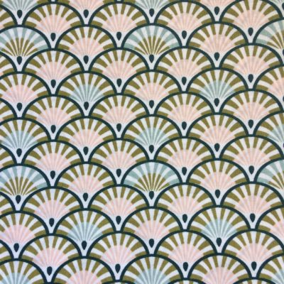 coton enduit palmiers verts