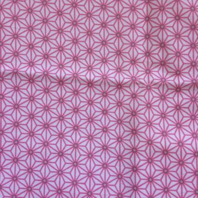 coton enduit saki rose