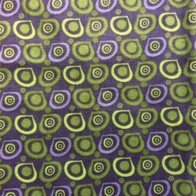 tissu pour sac cercles vert gris