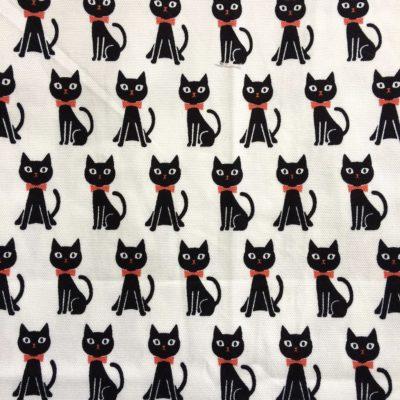 tissu pour sac chats noirs
