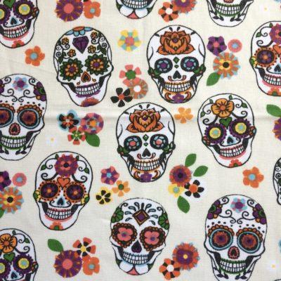 tissu pour sac dias de los muertos