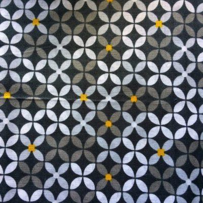 tissu pour sac geometrique retro gris