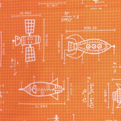 tissu pour sac ingenieur orange