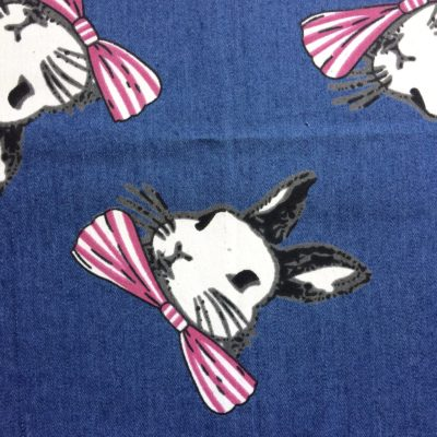 tissu pour sac jean bunny