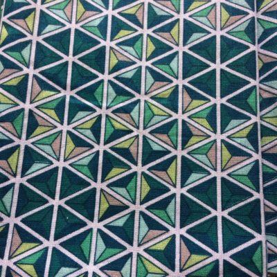tissu pour sac mosaïque turquoise canard