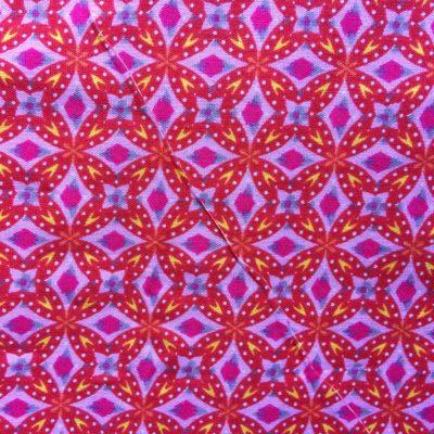 tissu pour sac mosaique rouge framboisetissu pour sac mosaique rouge framboise