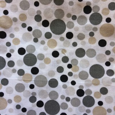 tissu pour sac pois beige gris