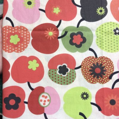tissu pour sac pommes retro