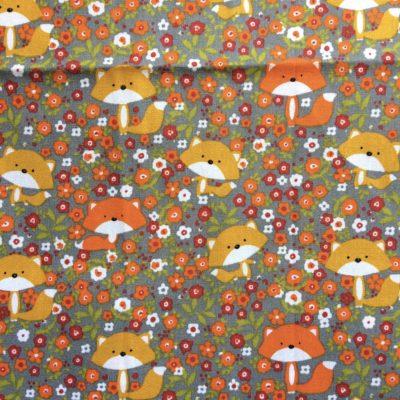 tissu pour sac renards retro