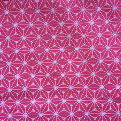 tissu pour sac saki framboise