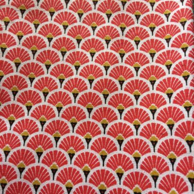 tissu pour sac segaiha rouge
