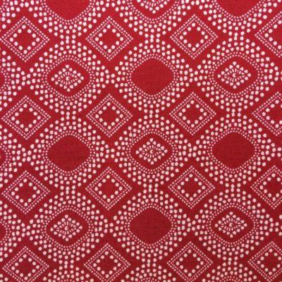 tissu sac ethnique fond rouge