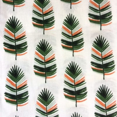 tissu sac feuilles palmier ecru