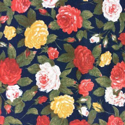 tissu sac fleurs kaki