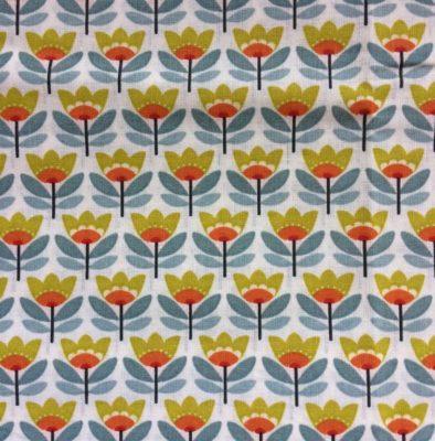 tissu sac fleurs retro