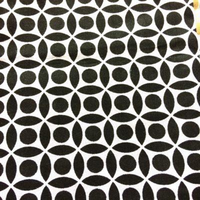 tissu sac géometrique noir et blanc