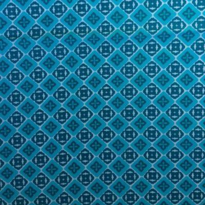 tissu sac mosaique turquoise