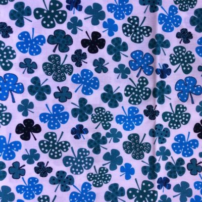 tissu sac trefles bleus