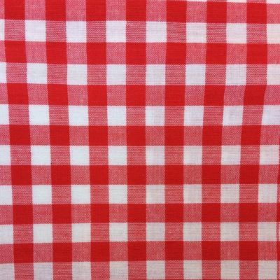 tissu sac vichy rouge